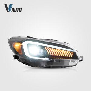 VLAND LED Projector Headlights Fit For Subaru WRX & WRX STI 2015 - 2020 LH+RH