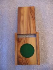 Ornamental Olive Wood Box / Stand Fit for Any 34mm Coin