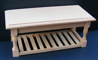 1:12 Scale Natural Finish Wood Kitchen Table Dolls House Furniture Accessory 071