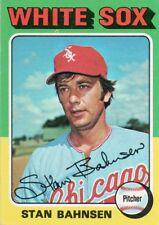 1975 Topps Mini #161 Stan Bahnsen Chicago White Sox (2018-0740)