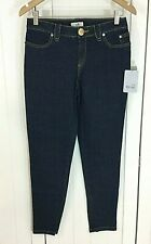 NEW METRO 7 Women's Blue Denim Zippered Cuff Skinny Jeans Size 4