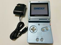 Nintendo GAME BOY ADVANCE SP pearl blue console AGS-001 tested and working GBASP