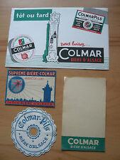 Vieux papier 1 buvard - collerette - feuille bloc note - etiquette BIERE COLMAR
