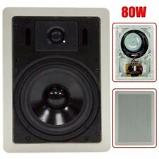 """6"""" 80W 2 Way In Wall In-Ceiling Speaker Single Stereo Audio Sound Home Theater"""