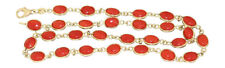 Korallenkette - Goldkette 750 - Koralle Cabochon - Halskette Collier Kette Gold