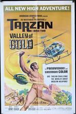 457 TARZAN & THE VALLEY OF GOLD 1sh '66 art of Henry throwing grenade