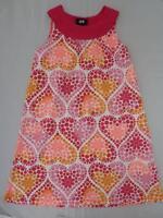 GORGEOUS H&M  Hearts Summer Dress  2-3  3-4 yrs 2-3-4y 100% Cotton EUC