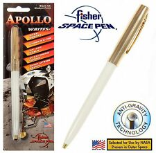 Fisher Space Pen #S251G-White Apollo Series Pen in Gold & White
