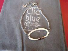 """SPLENDIDE BRACELET """"CLIO BLUE"""" ARGENT 925 OVALE AJOURE ARGENT /NEUF/POCHON"""