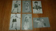** Réduit ** 6 ASSORTIES vintage Boxe Pièce Cartes Willie Pep Ortiz Omar Baker