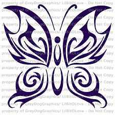 Tattoo Tribal Butterfly Vinyl Decal Auto  Sticker Curly Car Vehicle  Auto