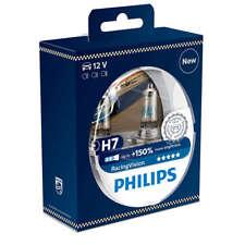 Philips racingvision Blister 2 Leuchten h7 +150% Licht Mehr Weiß
