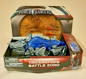 Power Rangers Movie Triceratops Battle Zord with Blue Power Ranger