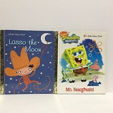 2 PC Lot Little Golden Lasso the Moon & SpongeBob Squarepants HC 268 Free Ship