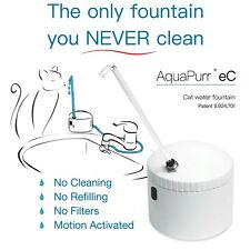 The only cat water fountain you never clean.  AquaPurr eC. Free Shipping