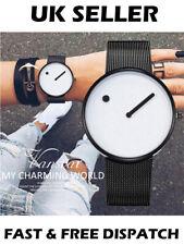 Blanco Reloj Minimalista creativo fresco y moderno Elegante Reloj Regalo Reloj de punto