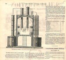 Appareils Savalle de Distillation Exposition Universelle de Vienne GRAVURE 1873