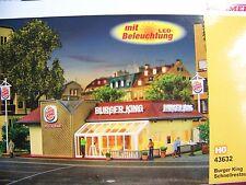 HO 1:87 scale Vollmer 43632 BURGER KING Restaurant  : Model Building KIT