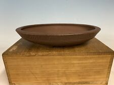 Unique Unglazed Tokoname Bonsai Tree Pot By The Yamaaki Kiln 9 1/2�