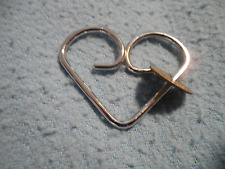 Jean Ring Chrome Over Brass Marc Creates Key Keys Rings Heart Style 1970's