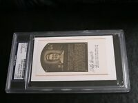 Billy Herman Autographed HOF Cut PSA Certified Encapsulated