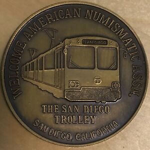 San Diego ANA Bronze Medal from The Roses; San Diego Trolley (#x1097)