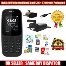 Nokia 105 Desbloqueado (2017 edición) de un solo SIM Teléfono + £ 10 crédito - 2 Colores