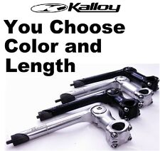 "Kalloy Adjustable Quill  0-60° Bike Stem (1-1/8"") 25.4 x 90/ 110mm Black/ Silver"