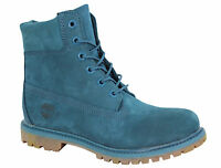 Timberland 6 Inch Premium Womens Boots Leather Mono Lace Up Shoes Teal A12ND T1C