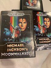 Michael Jackson's Moonwalker Complete, Authentic, Sega Genesis [S] EUC