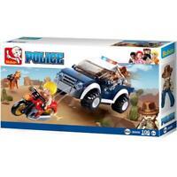 Sluban Kids Police Jeep K9 Unit with Motorcycle Building Blocks 106 Pcs set