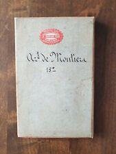 Carte Entoilée Moutier19ème.