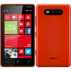 BNIB Nokia Lumia 820 Single Sim 8GB + 1GB Red Factory Unlocked 4G/LTE OEM