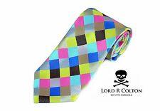 Lord R Colton Masterworks Tie Summer Prism Uprising Silk Necktie $195 New