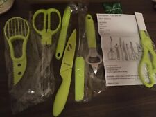 Kitchen Utensil Cooking 7 Piece Spatula Utensils Spoon Silicone Tools Set Green
