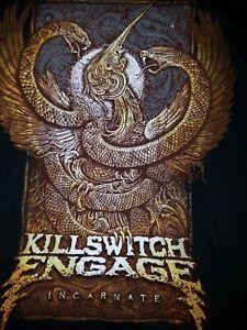 Killswitch Engage KSE Incarnate Band Tee Shirt Metalcore Mens Sz LG