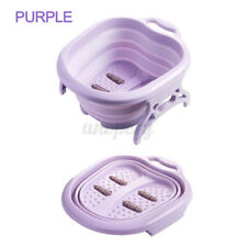 Folding Foot Spa Tub Relaxing Bath Soaking Pedicure Basin Tired Sore Feet