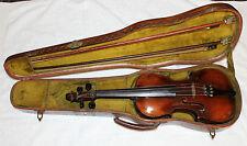 Johannes Baptiste Schweitzer - Antique 4/4 violin - 1813 - wooden case + 2 bows