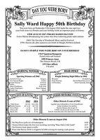 Personalised 16th 18th,21st,40th,50th,60th,70th,75th,80th 85th  BIRTHDAY SCROLL