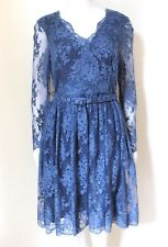 Erdem Cornflower Blue Lace Dress uk 14