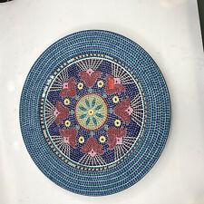 "Dansk Dinnerware Tile Signatture  Mosaic   13"" Chop Plate  Portugal"