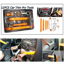 12pcs Car Door Clip Dash Panel Radio Moulding  Audio Removal Pry Trim Tools Kit