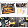 12pcs Car Door Clip Dash Panel Radio Moulding  Audio Removal Pry Trim Tools Kit