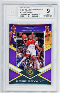 Kobe Bryant  BGS 9 2019 Mosaic Redemption Card w/ 3 HOFers   /20 Purple and Gold