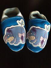 Disney Winnie The Pooh EEYORE Softsole Blue Shoe Baby Girl 6-12 Month