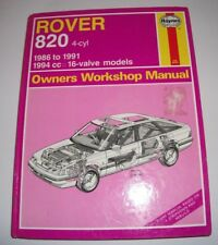 Haynes 1380 - Rover 820..4 Cyl 1986-1991 Owner's Workshop Manual..1991 Edtn..