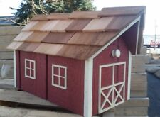 Amish Crafted Red with Beige Trim Barn Style Mailbox - Lancaster County PA