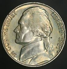 1961-P Jefferson Nickel Gorgeous Colorful Toning A Beautiful Example UNC! GC292