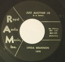 LINDA BRANNON Just Another Lie/Wherever You Are 45 RAM teen