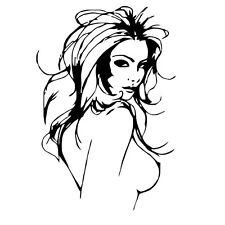 Sexy Lady Hair Haar Frisör Wandtattoo Wallpaper Wand Schmuck 60 x 90 cm Wandbild